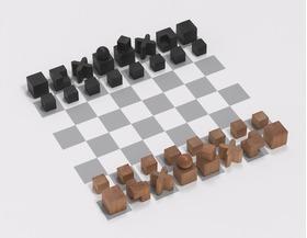 包豪斯风格的国际象棋一套 系列二